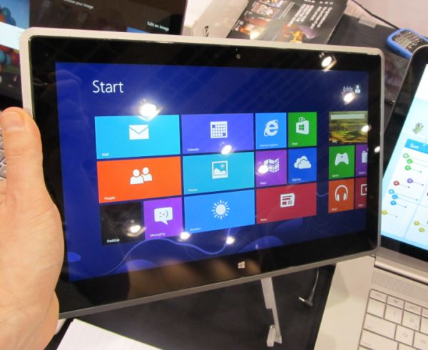 Hands-on with the Vizio Tablet PC Windows 8 Slate (video