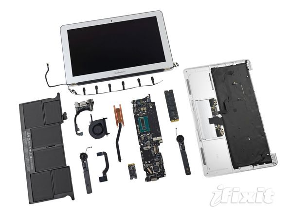 macbook air dissected