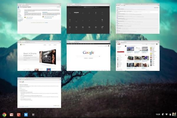 Chrome OS Overview Mode