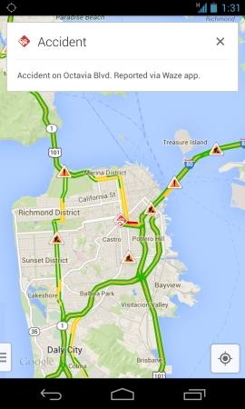 google maps with waze reports