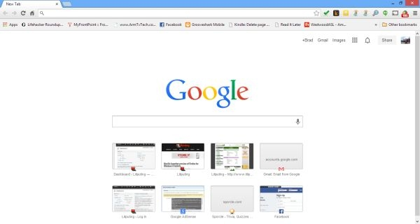 chrome new tab
