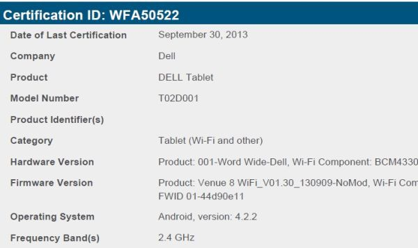 dell venue 8 android