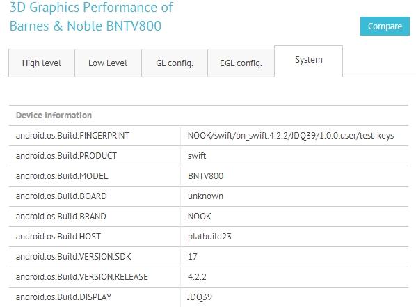 B&N NOOK BNTV800