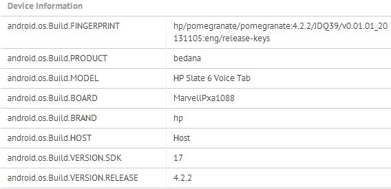 HP Slate 6 Voice Tab