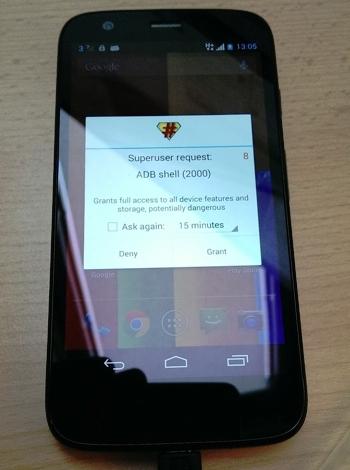 Motorola Moto G rooted