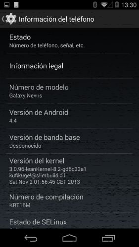 SlimKat Android 4.4 for the Galaxy Nexus