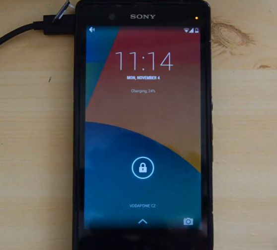 Sony Xperia Z with Android 4.4