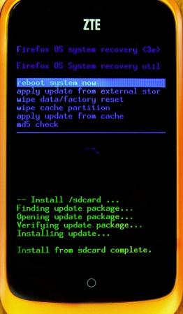 ZTE Open Firefox OS 1.1 update