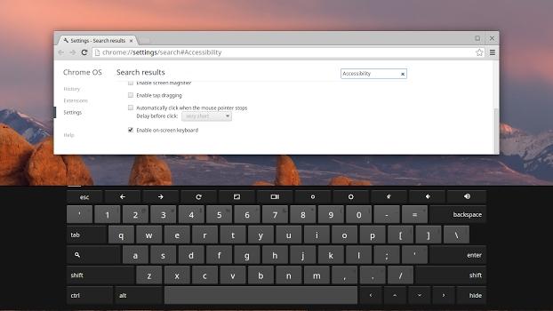 Chrome OS keyboard