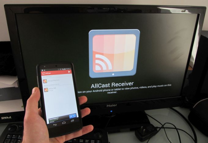AllCast Receiver streams video from any Android to another