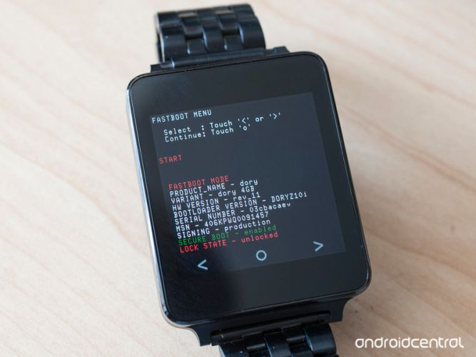 lg g watch bootloader