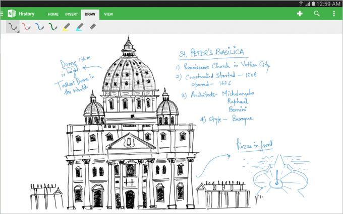 onenote android tablet