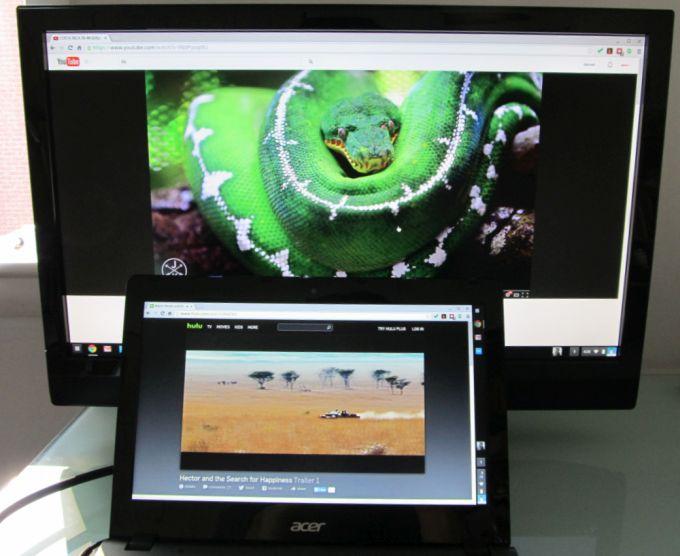 acer c720 dual video