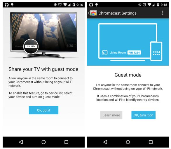 Chromecast adds guest mode: Stream without sharing WiFi