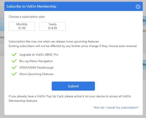 vidon membership