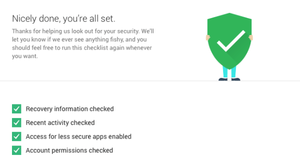 Google Security Checkup 3