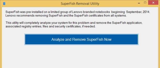 superfish removal
