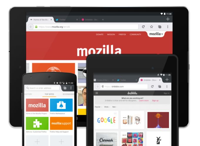 firefox android tablet