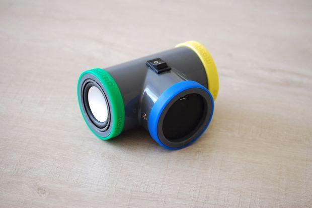 Bluetooth Speaker PVC Pipe