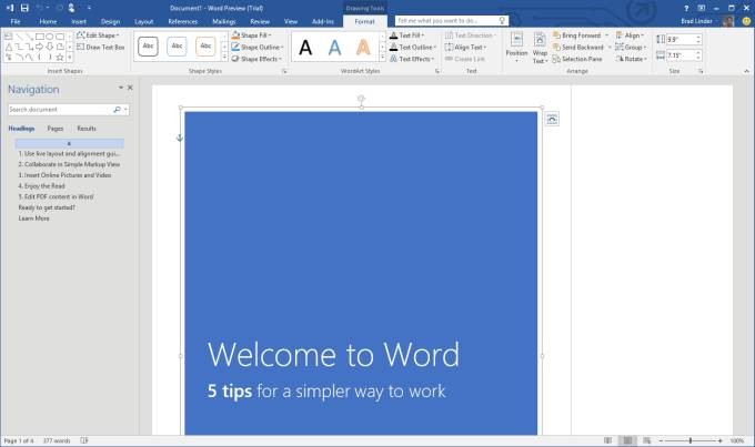 Microsoft releases Office 2016 Public Preview - Liliputing
