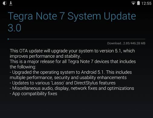 tegra note 7 update
