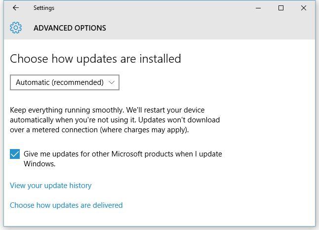windows update auto