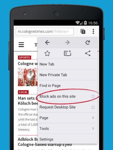 adblock browser whitelist