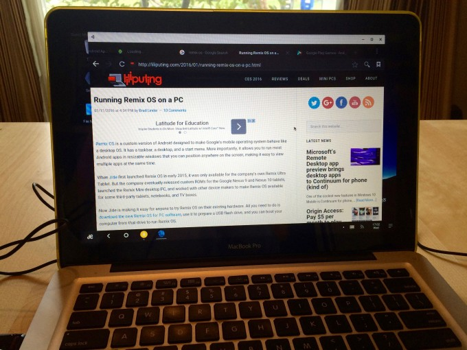 Remix OS on Mac 4