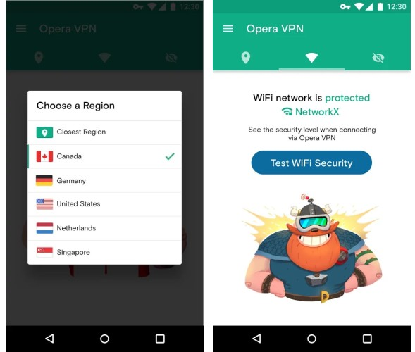 Opera's VPN is now available as a standalone Android app