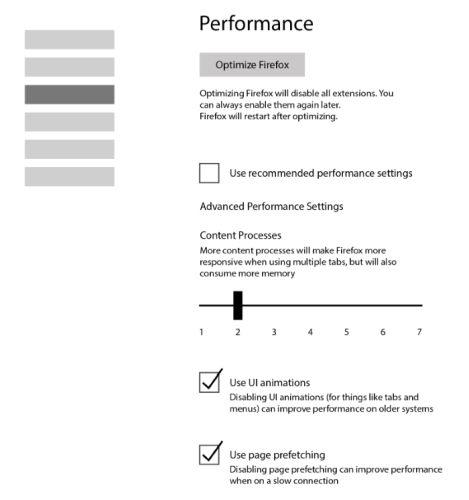 Firefox to gain a performance settings menu - Liliputing