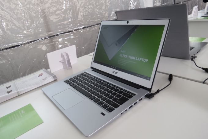 acer swift 1 notebook with fhd display apollo lake cpu coming this summer for 329 and up. Black Bedroom Furniture Sets. Home Design Ideas