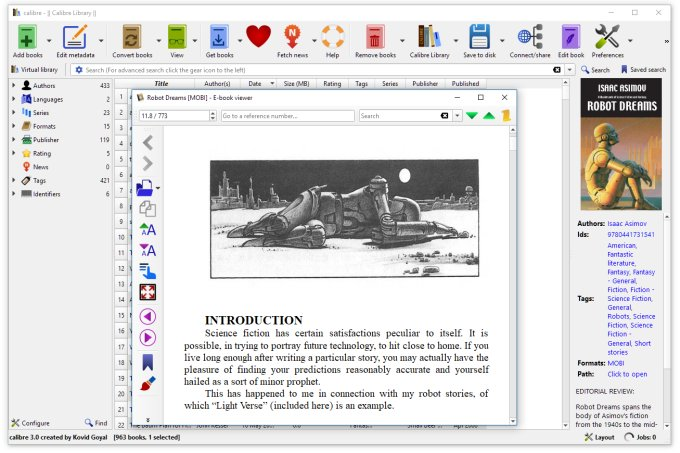 Calibre eBook manager hits version 3 0 - Liliputing