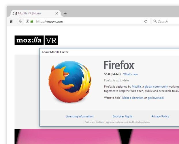 Firefox 55 brings speed, memory improvements and WebVR - Liliputing
