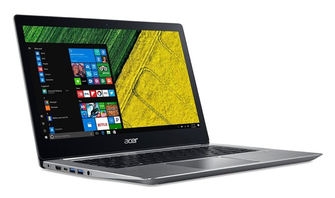 Acer Swift 3 notebook NVIDIA MX150, quad-core Kaby Lake-R