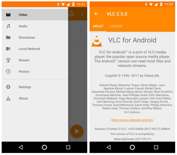 VLC 2 5 for Android adds 360 degree video, Android Auto