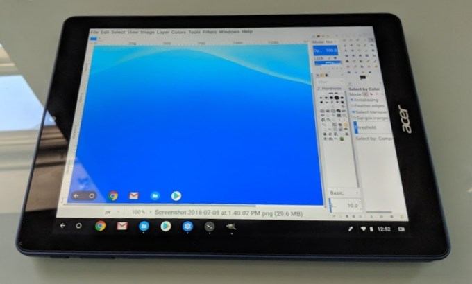 Linux apps on the Acer Chromebook Tab 10 - Liliputing