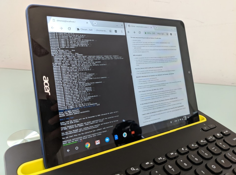 How to enable developer mode on a Chrome OS tablet (and install