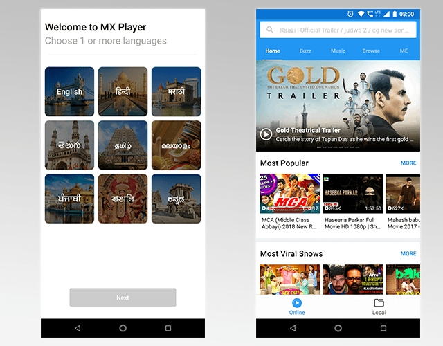 Android video app MX Player is becoming a streaming video