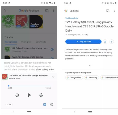 Google Podcasts app may soon offer show transcripts - Liliputing