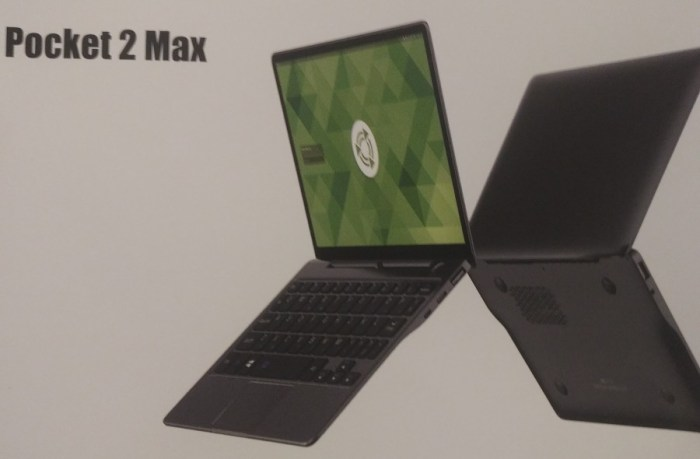 GPD Pocket 2 Max is an 8 9 inch laptop with Core m3-8100Y