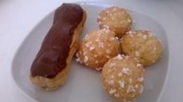 Éclairs and chouquettes