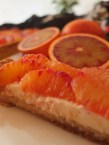 Blood orange tart