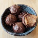 Chocolate-covered salted date caramels