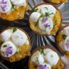 Ginger and lime marshmallow cloud tarts