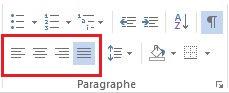 La mise en forme de paragraphes avec Microsoft Word