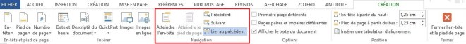 """""""Lier au précédent"""", article """"Didacticiel Microsoft Word: Petit guide pour utiliser les sauts de page"""""""