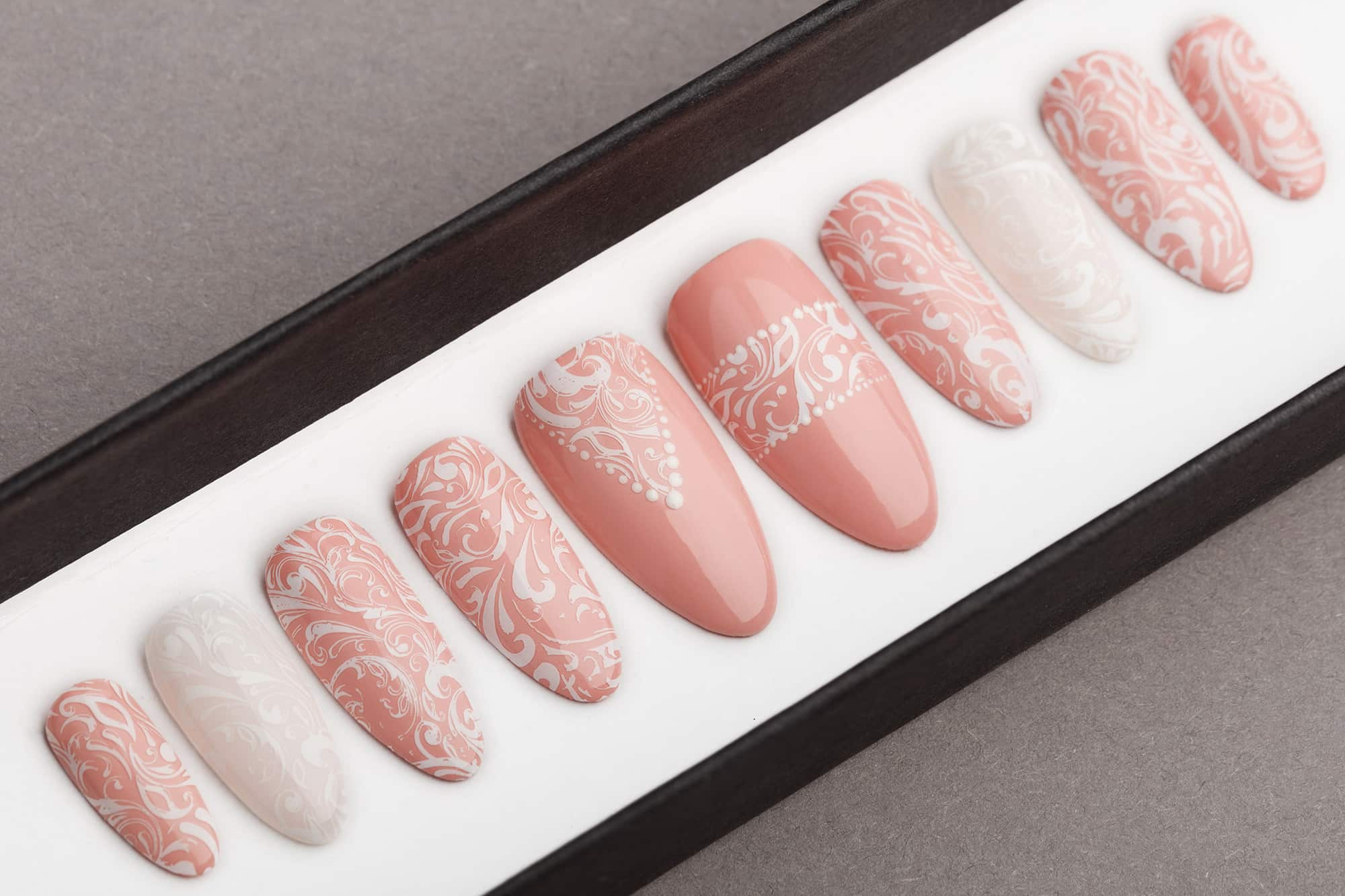 Lace Wedding Press on Nails