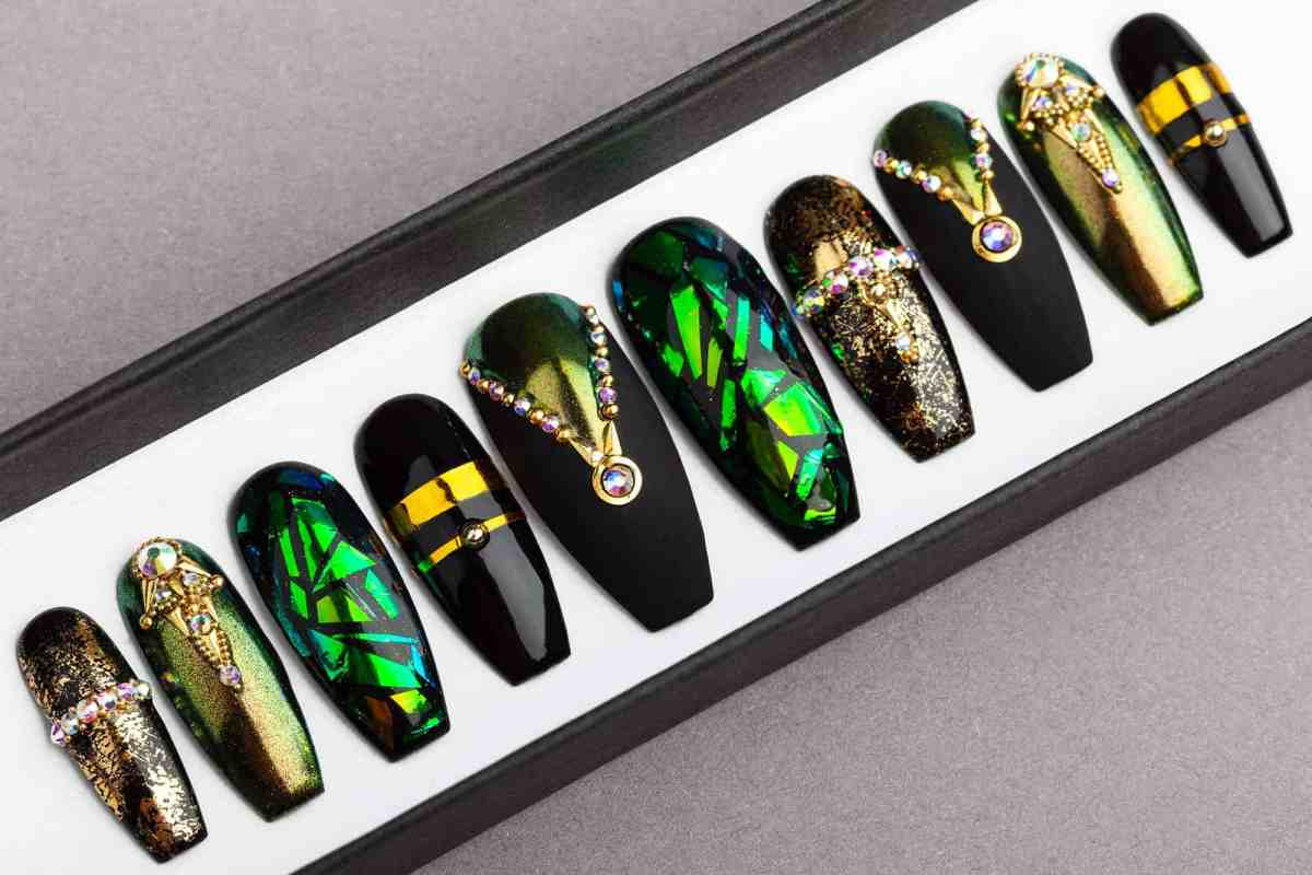 Egyptian Curse Press on Nails | Fake Nails | False Nails | Glue On Nails | Shattered Glass | Handpainted Nail Art