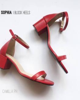 Block Heels Sophia Red