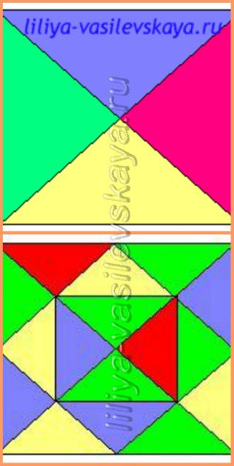 гГеометрические фигуры в игре для детей